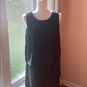 DKNY sleeves side slits 3 layers dress